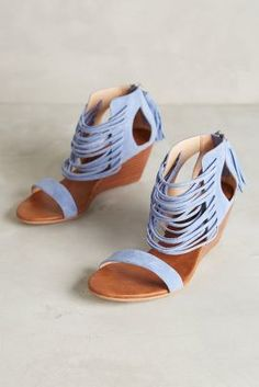Matiko Bryn Wedges Blue Wedges ブルーウエッジ on ShopStyle Fab Shoes, Crazy Shoes, Cute Shoes, Me Too Shoes, Blue Wedges, Shoe Closet, Look Chic, Shoe Game, Shoe Collection