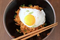 Kimchee Fried Rice- I bought a tub of kimchee solely to make this! Super easy and requires very basic ingredients.