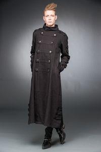 Queen of Darkness - Herren Gothic Mantel mit Knöpfen und D-Ringen