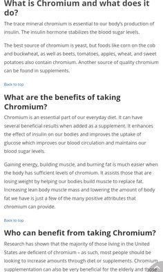 Chromium is in Our Plexus Slim Here are Benefits to having this supplement!