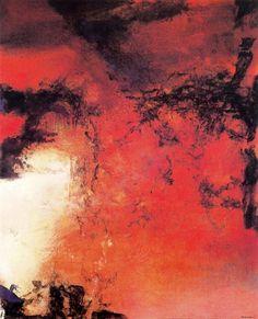 Cave to Canvas, Zao Wou-Ki, 1-6-83, 1983
