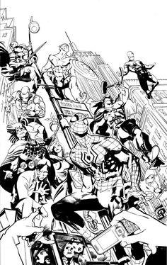 Comic Book Artists, Comic Books Art, Comic Art, Colorful Drawings, Cool Drawings, Manga Comics, Marvel Comics, Marvel Coloring, Avengers Art