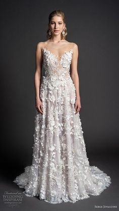 Best A-Line Wedding Dress: serge jevaguine 2019 bridal sleeveless illusion jewel sweetheart neckline full e... TrendyIdeas.net | Your number one source for daily Trending Ideas