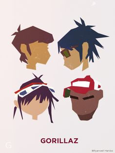 Gorillaz by ryanwell on @DeviantArt