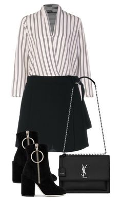"""Untitled #5066"" by theeuropeancloset on Polyvore featuring Boohoo, Carven, Off-White and Yves Saint Laurent"