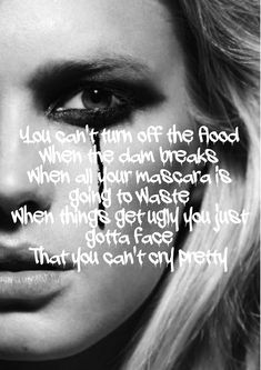 Carrie Underwood in her song Cry pretty. Country Lyrics, Country Music Quotes, Country Songs, Mama Song Lyrics, Music Lyrics, Song Cry, Inspirational Song Lyrics, Song Lyric Quotes, Carry On Lyrics