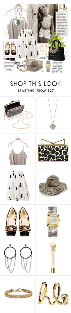 """Happy birthday!!"" by marleen1978 ❤ liked on Polyvore featuring Lanvin, Kate Spade, Sara Battaglia, Leith, Christian Louboutin, Swarovski, Jessica Simpson, Yves Saint Laurent, Blue Nile and Chloé"