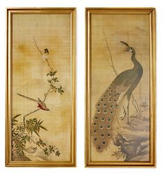 One Kings Lane - Create a Retreat - Japanese Bird Panels, S/2