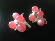 Vintage Beaded Pink Silver Metal Clip on Earrings | Jewelry & Watches, Vintage & Antique Jewelry, Costume | eBay!