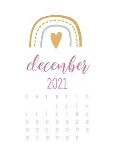 Cute Calendar, December Calendar, Print Calendar, Free Printable Calendar, Calendar Pages, Calendar Design, 2021 Calendar, Calendar Wallpaper, Bullet Journal Writing