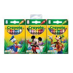 Toda criança gosta muito de expressar sua criatividade desenhando e pintando com o Giz de Cera Crayola Clube do Mickey. As crianças terão em mãos um produto de altíssima qualidade, e com o tema dos personagens  da Disney.   Com eles, elas vão poder colorir  e desenhar com muita alegria e diversão. A embalagem contém 24 gizes diversos.