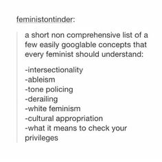 I would also include: thin privilege, racism, TERF, classism, ally