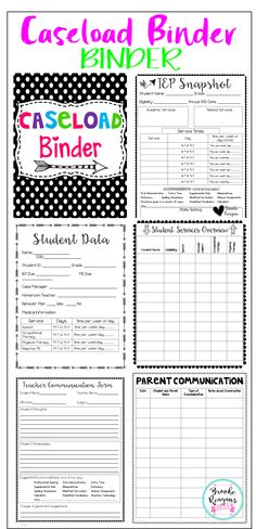 Everything you need to stay organized as a special education teacher! Data sheets, IEP Snapshots, teacher communication, schedule overviews and much much more!!