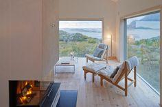 Norwegian Cottage by Kolman Boye Architects on the island of Vega
