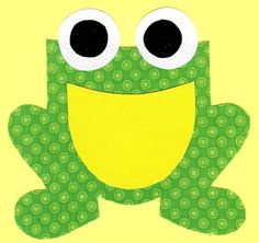 Frog iron on fabric applique DIY by patternoldies on Etsy