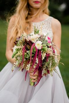 Love This Greenery Bouquet with Burgundy Blush Bouquet, Bridesmaid Bouquet, Bridesmaid Dresses, Wedding Dresses, Bridal Bouquets, White Dahlias, Floral Arrangements, Real Weddings, Wedding Flowers