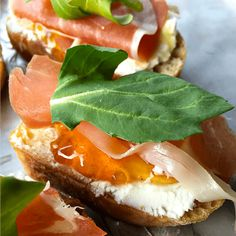 """ThisProsciutto Goat Cheese Crostini is an elegant, deliciousappetizer to serve or bring to any party! Friends, now that it's February, I just love that """"love is in the air""""! There are so many ways to reach out to show love! Sometimes we may feel so busy, the space in our lives for big efforts like …"""