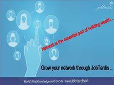 Grow your network through JobTardis.