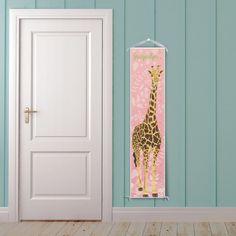 Giraffe Personalized Growth Chart - Modern birdrowprints.etsy.com $39.99