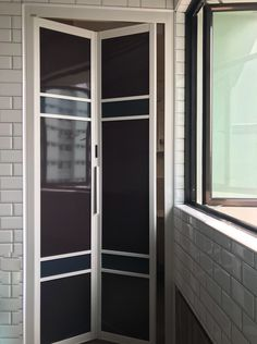EZI doors which are bi-folding is great way to minimize the space taken up by a door that swings its full width into a room. Entryway Closet, Closet Doors, Cannon Falls, Bedroom Bed Design, Scandinavian Bathroom, Bathroom Doors, Swings, Sliding Doors, Minimalism