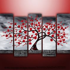 Abstract Modern Landscape Tree Asian Art by Gabriela by Catalin