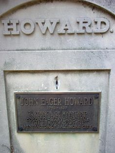 """John Eager Howard - Revolutionary War Continental Army Officer, Continental Congressman, US Senator. In July 1776, he accepted a Captaincy in the 2nd Maryland Battalion of the Flying Camp and was sent to White Plains, New York, where he battled the British. He distinguished himself with leadership and bravery at Germantown, the Battle of Camden, and the Battle of Cowpens. Congress voted him a medal and he became known as the """"Hero of Cowpens"""". Continental Army, Famous Graves, White Plains, Camden, Revolutionaries, Ancestry, Maryland, Leadership, Battle"""