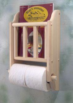 tissue and magazine holder for half bath-Etsy