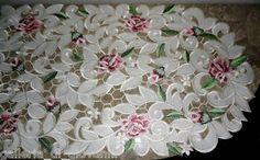 "Royal Rose Lace Runner 70"" Doily Floral Flower | eBay"