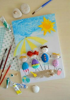 Best way to travel around italy. best way to travel around italy painting for kids, easy crafts, diy crafts for Easy Crafts, Diy And Crafts, Arts And Crafts, Paper Crafts, Stone Crafts, Rock Crafts, Summer Crafts For Kids, Diy For Kids, Preschool Crafts