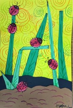cute to add to my ladybug lesson. Like the printed background.