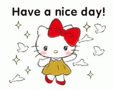 LINE Official Stickers - Hello Kitty Polite Stickers Example with GIF Animation Sanrio Hello Kitty, Hello Kitty Art, Hello Kitty Pictures, Hello Kitty Backgrounds, Hello Kitty Wallpaper, Cute Love Gif, Cartoon Stickers, Good Morning Gif, Little Twin Stars