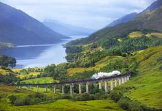View the Scottish Highlands on the West Highland Line from Glasgow to Mallaig. Can you say Harry Potter?