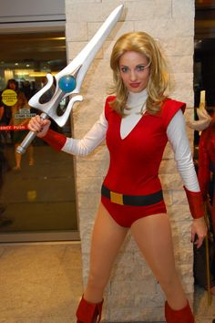 Photo of Katie cosplaying Adora (She-Ra Princess of Power) She Ra Costume, 80s Costume, Cool Costumes, Cosplay Costumes, Halloween Costumes, Cosplay Ideas, Costume Ideas, Katie George, Best Cosplay