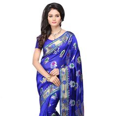 Royal #Blue Pure Tussar Silk #BanarasiSaree with Blouse