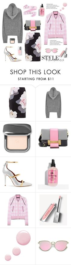 """Not Ur Babe"" by neverboring ❤ liked on Polyvore featuring Ted Baker, Acne Studios, Prada, Malone Souliers, Couture Colour, Sister By Sibling, Burberry and Topshop"