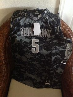 Jordan Dri Fit Brand Georgetown #5 basketball NCAA jersey NWT new with tags size XL Mens 25 inches armpit to armpit 32 inches Lenght   eBay!
