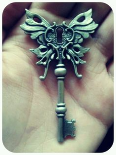 fairy key- Would b cool tatoo. Under Lock And Key, Key Lock, Key Key, Old Keys, Sternum Tattoo, Tattoo Key, Key To My Heart, Or Antique, Antique Keys
