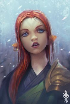 Red Hair Elf by Zeronis.deviantart.com on @deviantART