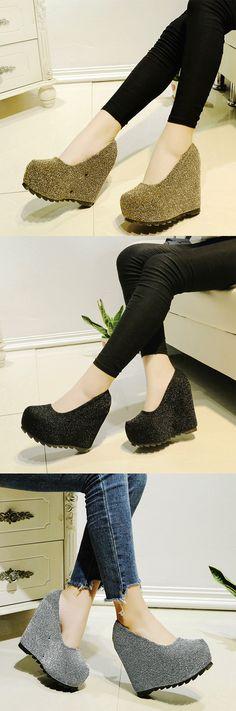 Material:Glitter|Heel Height:12.5cm|Embellishment:Platform