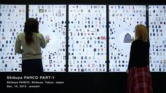 Interactive display :Tokyo department store  Parco digitizes its window display, Japanese department store has  recently  installed digital signage at its Shibuya storefront. There are six vertical screens that make up its 'P-Wall', showcasing the different products available on the Parco website, including 1,000 products by various brands. #interactive  #display #window #digital #japan  #signage #tokyo  - source http://thebridge.jp/en/2013/12/parco-teamlab