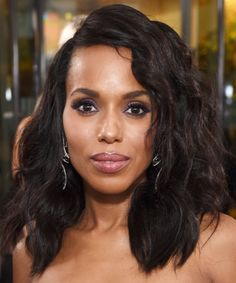 Kerry Washington | We've rounded up our all time favorite long bob haircut looks. These long lob looks will frame any face shape beautifully and are must-tries for this season.