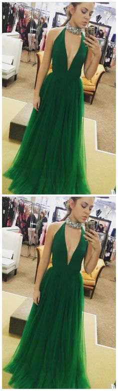 Hot Sexy Sleeveless A-Line Deep V-Neck Green Floor-Length Tulle Long Prom Dresses,FLY214 by Sfaivodresses, $132.70 USD Classy Homecoming Dress, Classy Prom Dresses, A Line Prom Dresses, Prom Party Dresses, Homecoming Dresses, Sexy Dresses, Evening Dresses, Fashion Dresses, Sexy Party Dress