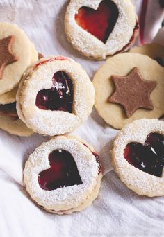 Coconut and Jam Heart Cookies
