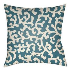 "Artistic Weavers Litchfield Lumberton Indoor/Outdoor Throw Pillow Size: 20"" H x 20"" W, Color: Tangerine/Ivory"
