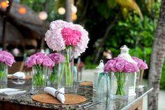 #blooming #blur #bouquet #celebration #close up #colors #decorations #flora #flower arrangement #flowers #glasses #petals #roses #set #table #tableware #vase #water #wedding setup