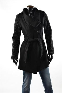 b30c053066 Guess 100 Leather Jacket Marciano Womens Outerwear Black Moto Coat Sz M for  sale online