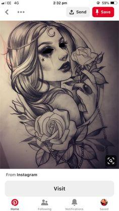 408 Likes, 9 Comments - Madeleine Hoogkamer (@ madeleinehoogkamer.tattoo) on Inst . Badass Tattoos, Sexy Tattoos, Body Art Tattoos, Sleeve Tattoos, Foot Tattoos, Gypsy Tattoo Sleeve, Pin Up Tattoos, Tatoos, Flower Tattoo Designs