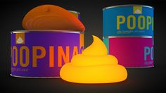 Poop In A Can. USB charged LED light. Add a spot of color. Perfect crap gift.