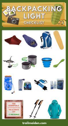 Backpacking Light Checklist - Guide for Beginners