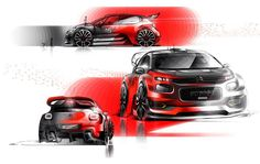 2017 Citroën C3 WRC official sketches by Vladimir Schitt (@vladimir_schitt) #cardesign #citroen #c3 #wrc #carsketch #vision #cardrawing #cardesigner #official